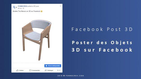 Poster des Objets 3D sur Facebook